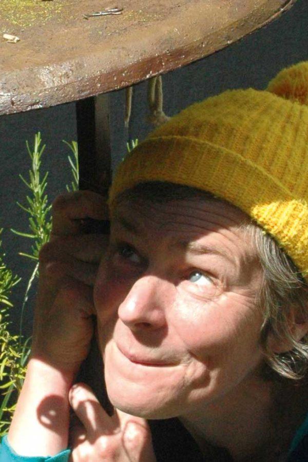 Die Theaterpädagogin und Schauspielerin Sonja Ewald bei der Konferenz für eine bessere Welt